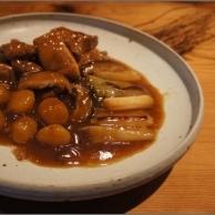 鶏もも肉と栗の醤油煮