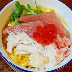 カップ寿司♪ 北海道の「海鮮ミニちらし」