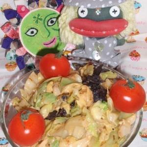 キャベツと海苔の味噌マヨサラダ