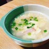 卵とハムと小ねぎのスープ