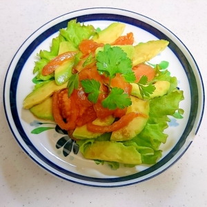 アボガドとトマトの朝サラダ