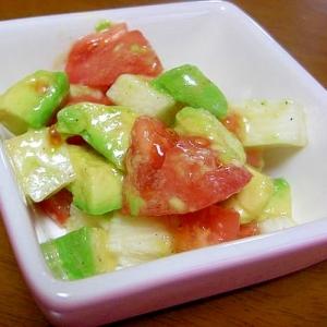 アボカドと長芋とトマトの和え物