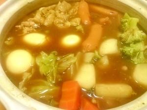 簡単和風!野菜がススム!カレー鍋!