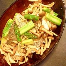 タラと野菜のレモンバター醤油焼き
