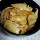 晩酌に!鶏皮と白滝のピリ辛炒め煮(`・ω・´)