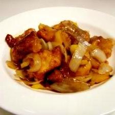鶏の唐揚げde黒酢の酢豚風 リメイクレシピ☆