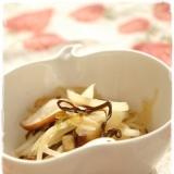 簡単1品!椎茸と玉ねぎの塩昆布炒め♪