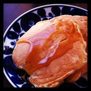 バター不使用。アップルシナモンパンケーキ