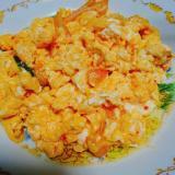 キムチとモッツァレラチーズのスクランブルエッグ