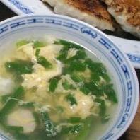 わけぎたっぷり!中華風スープ