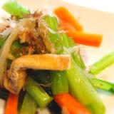 副菜に 小松菜ともやしの野菜炒め