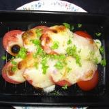 トマトとカチョカバロのグリル焼き