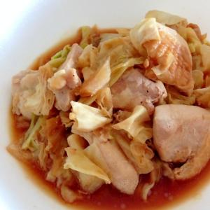 市販の調味料で☆鶏肉とキャベツのにんにく味噌蒸し