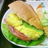 レンチンでお手軽ボリュームランチ-フランスパン