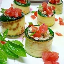 ズッキーニのカラフルサラダ