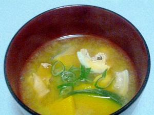 簡単♪ほっこり♪鮭とかぼちゃのお味噌汁