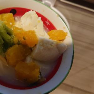 かぼちゃの豆腐スープ