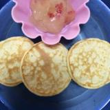 離乳食後期♡赤ちゃんのデザートりんご寒天