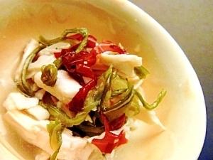 サラダ昆布と蒸し鶏の酢の物