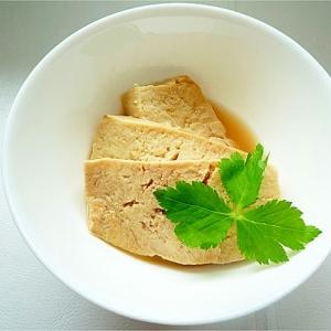 手作り高野豆腐の含め煮