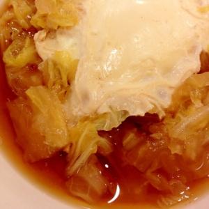 あっさり和風味*白菜の卵落とし煮