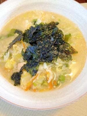 鶏がらスープで☆濃厚雑炊