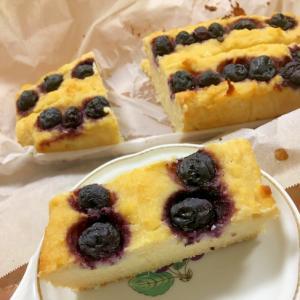 ブルーベリーたっぷりな★生おからケーキ