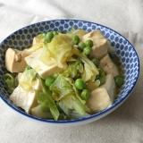 豆腐とキャベツのくず煮