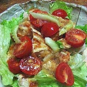 新鮮プチトマトと鶏肉のコロコロサラダ