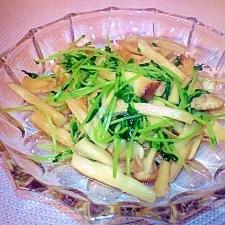 エリンギと豆苗の炒め