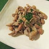 金時豆と豚肉の煮込み
