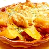 ❤薩摩芋と鶏唐揚げとマカロニのミートSグラタン❤
