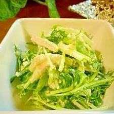 ゆで鶏de水菜と豆腐のぐちゃぐちゃサラダ