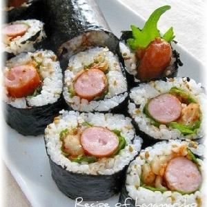 ウインナーとキムチの胡麻ごま巻き寿司
