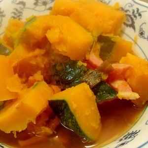 南瓜とハムの醤油煮
