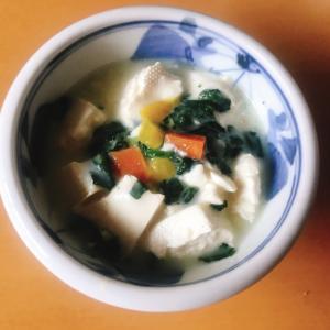 【離乳食後期】木綿豆腐と野菜のホワイトソース煮