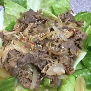 牛肉のピリ辛炒め 焼肉のタレ風味付け