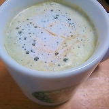 抹茶ラテにコーヒーを+して・・・。