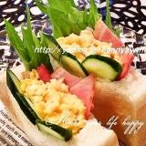 ふわふわ卵とベーコン☆ポケットサンド