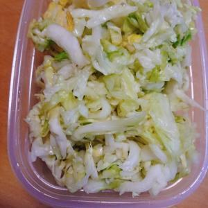 塩揉み塩麹サラダ白菜