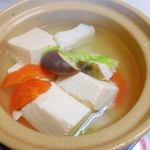 おひとり様湯豆腐