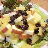 パイナップルとりんごのサラダ