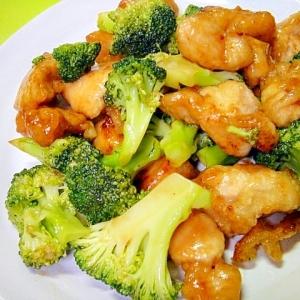 ブロッコリーと鶏むね肉の甘酢炒め
