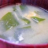 海草のかき玉汁