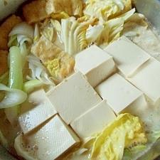 白菜たっぷり、畑の お肉鍋