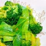 ブロッコリーとキャベツのカレーサラダ