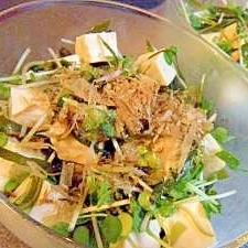 早採り昆布と豆腐のサラダ