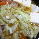 キャベツたっぷり味噌鍋