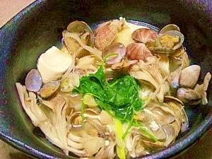 減塩☆アサリ豆腐