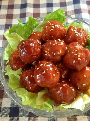 お弁当の定番☆肉団子の甘酢あん